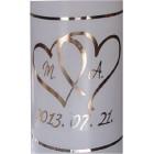 Esküvői gyertya ezüst- arany -bronz 17