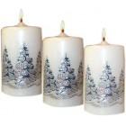 Karácsonyi gyertya fenyőfa díszítéssel gysz 20091